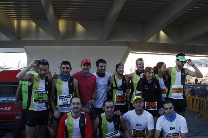 Atletas de Jávea en la Maratón de Valencia