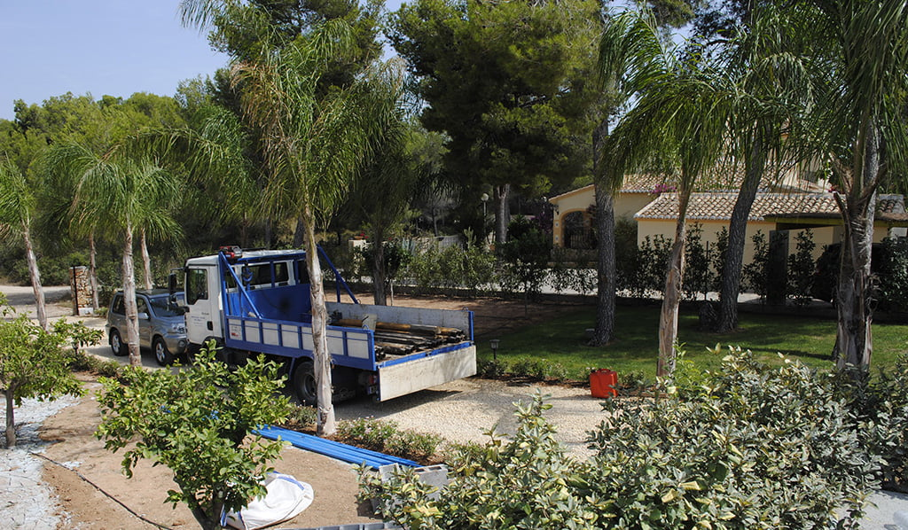 Camió de Electrobombas Xàbia durant un treball