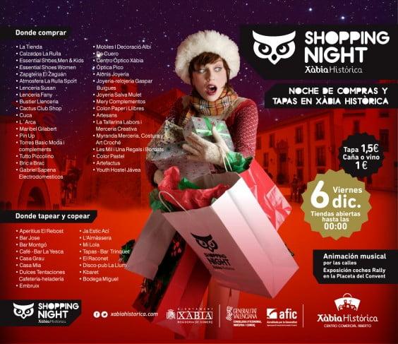 El día 6 de diciembre Jávea celebra la shopping Night navideña