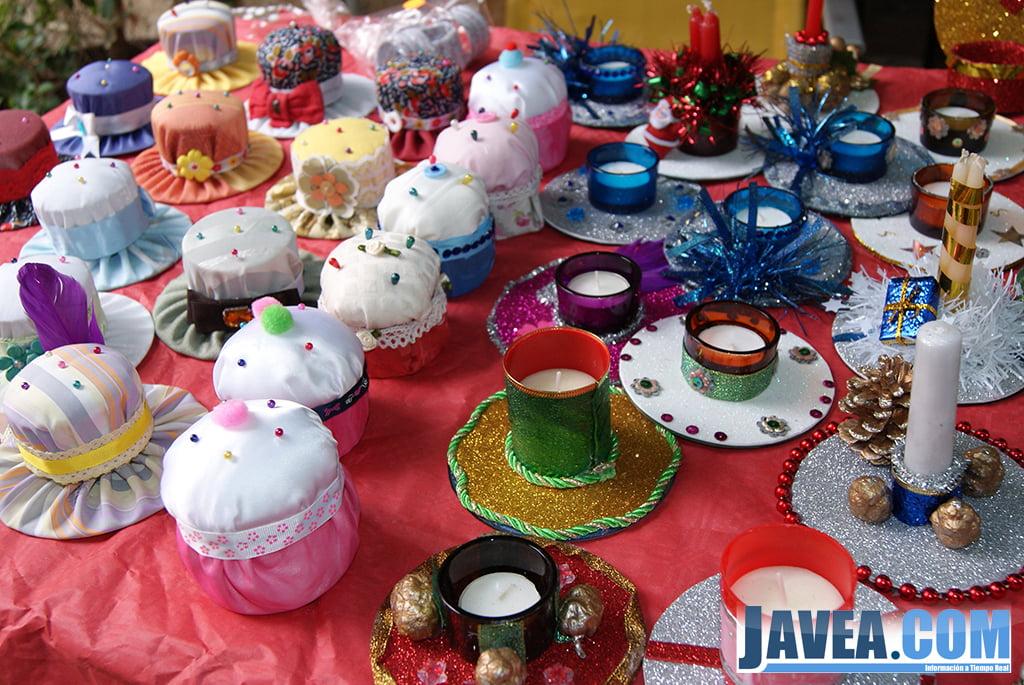 Decoración Navideña en la feria de Navidad de Jávea.