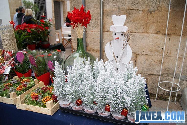 Decoración navideña en el stand de L'arca Flors