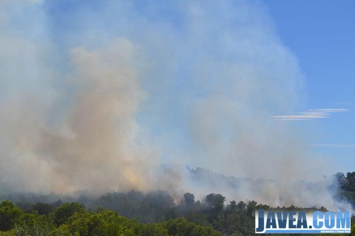 El incendio de la Granadella obligó a desalojar a 300 personas