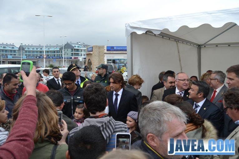 El tenista David Ferrer inaugura el paseo del arenal que lleva su nombre