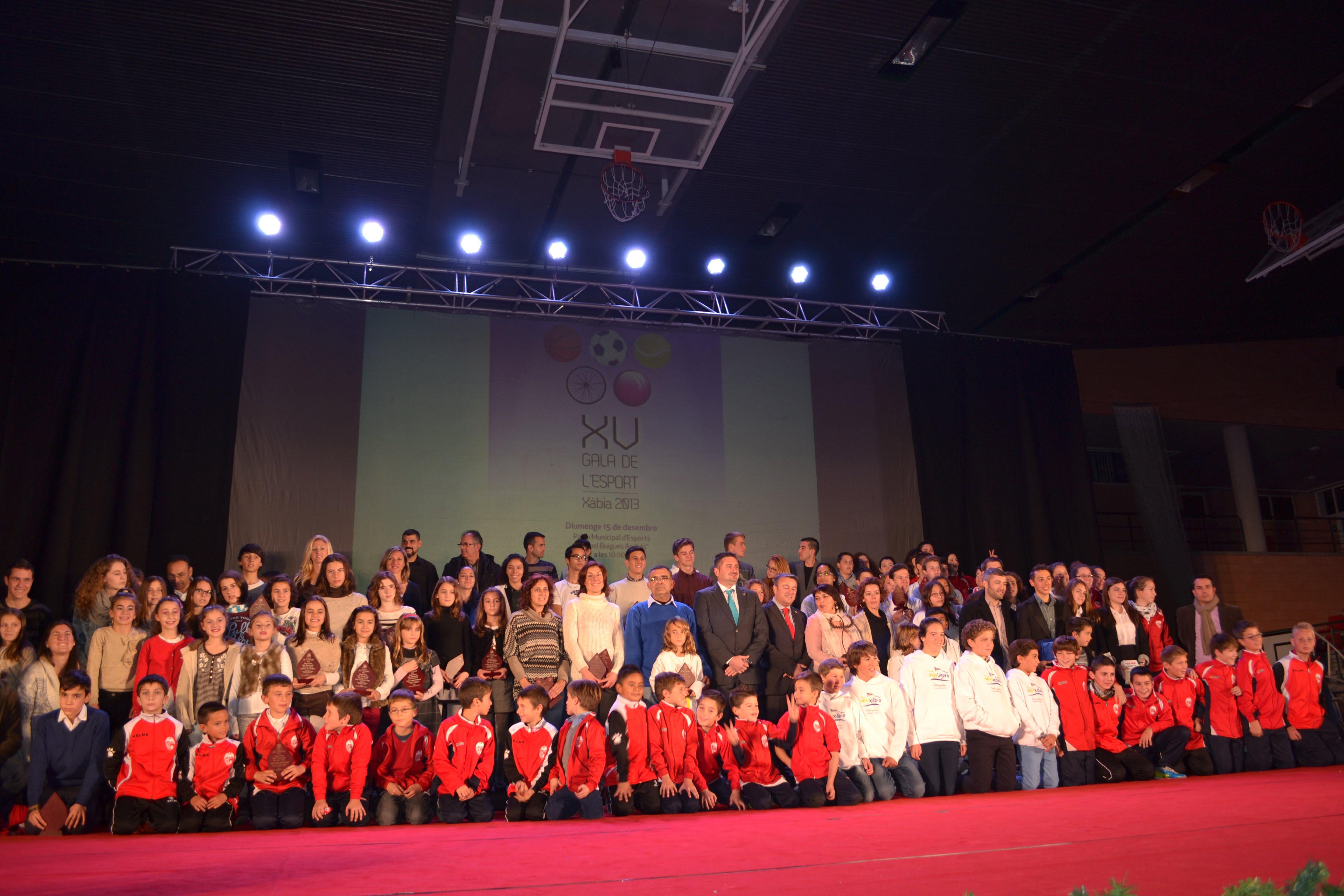 Deportistas galardonados en la XV Gala del Deporte de Jávea