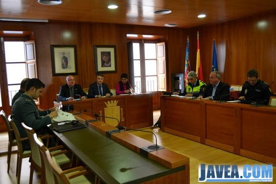 Junta de Seguridad Ciudadana en el Ayuntamiento de Jávea
