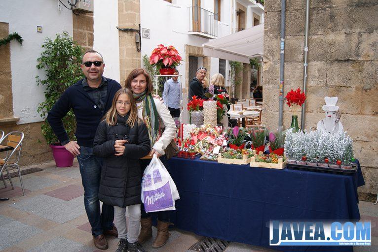 Stand de L'arca Flors en la Feria de Navidad de Jávea.