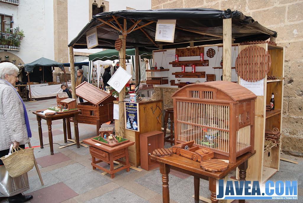 Stand de artesanía en la Feria de Navidad de Jávea