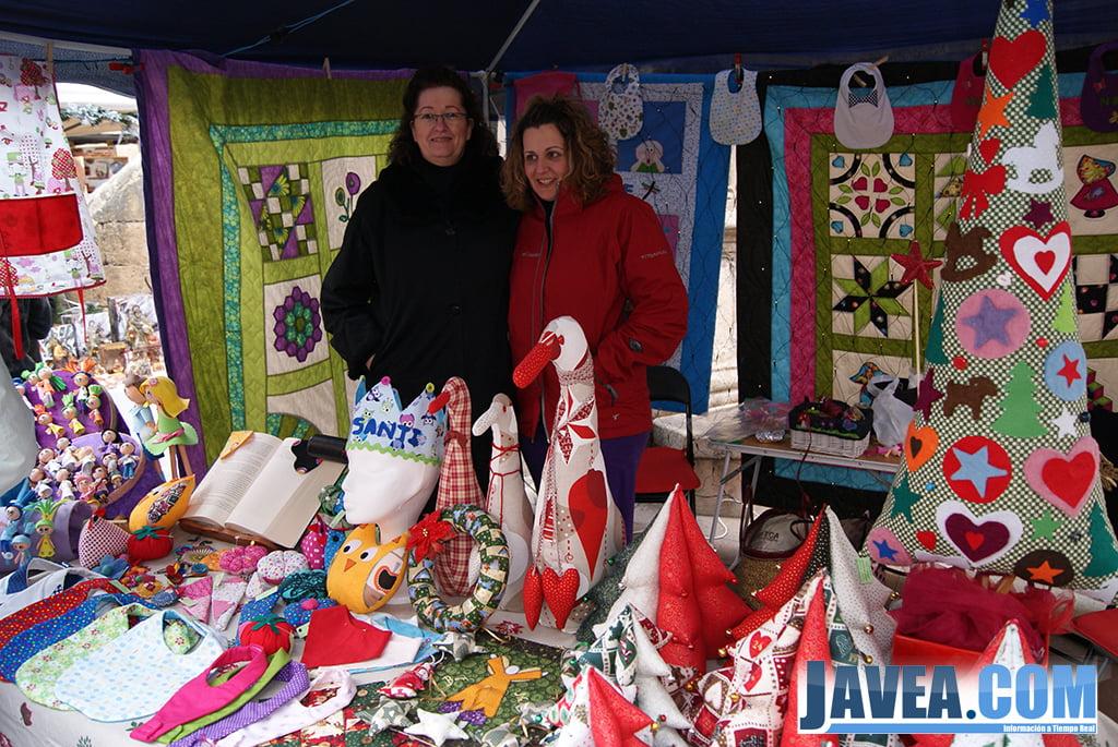 Stand de patchwork en la feria de Navidad de Jávea.