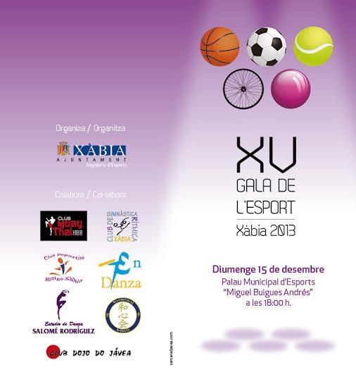 XV Gala de l'esport Xàbia
