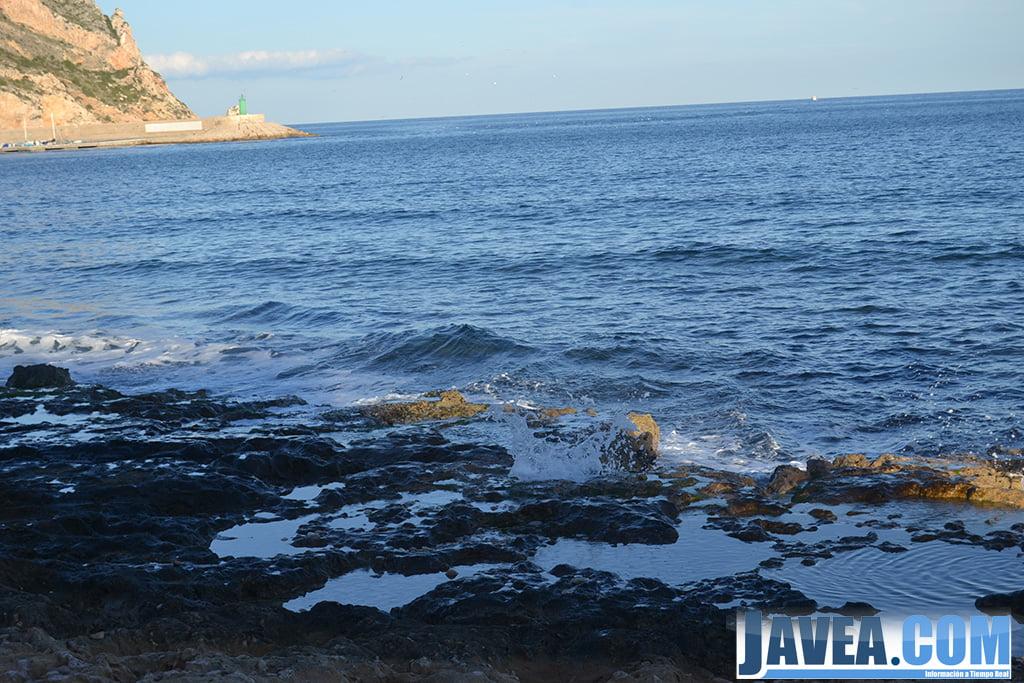 Final de la Playa de la Grava de Jávea