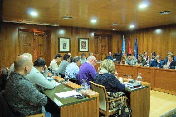 Pleno del mes de enero de 2014 en el Ayuntamiento de Jávea