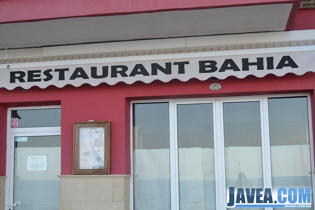 Restaurante Bahía en Jávea en la primera línea de la Playa La Grava