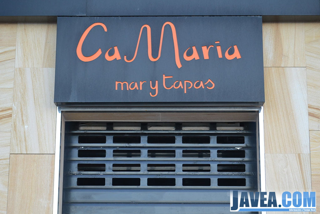 Restaurante Ca María en Jávea en primera línea de la Playa La Grava