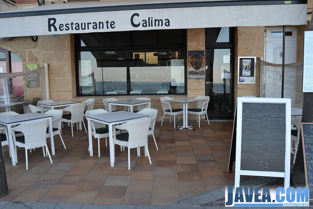 Restaurante Calima en Jávea a primera línea de la Playa La Grava