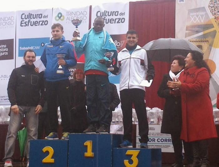 Cheroben, Vykhopen y Toni Soler en el podium de Santa Pola