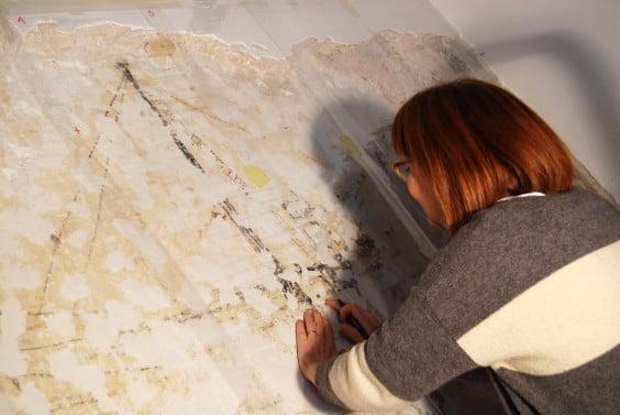 calco de los grafitis encontrados en la Casa Candelaria