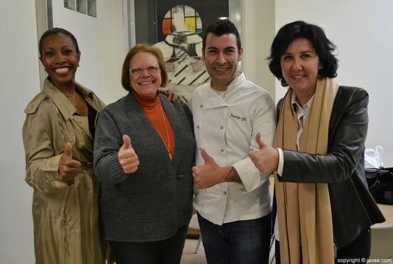 Arline Francis, Ana Catalá, Juanjo Gil y Cristina Rodríguez