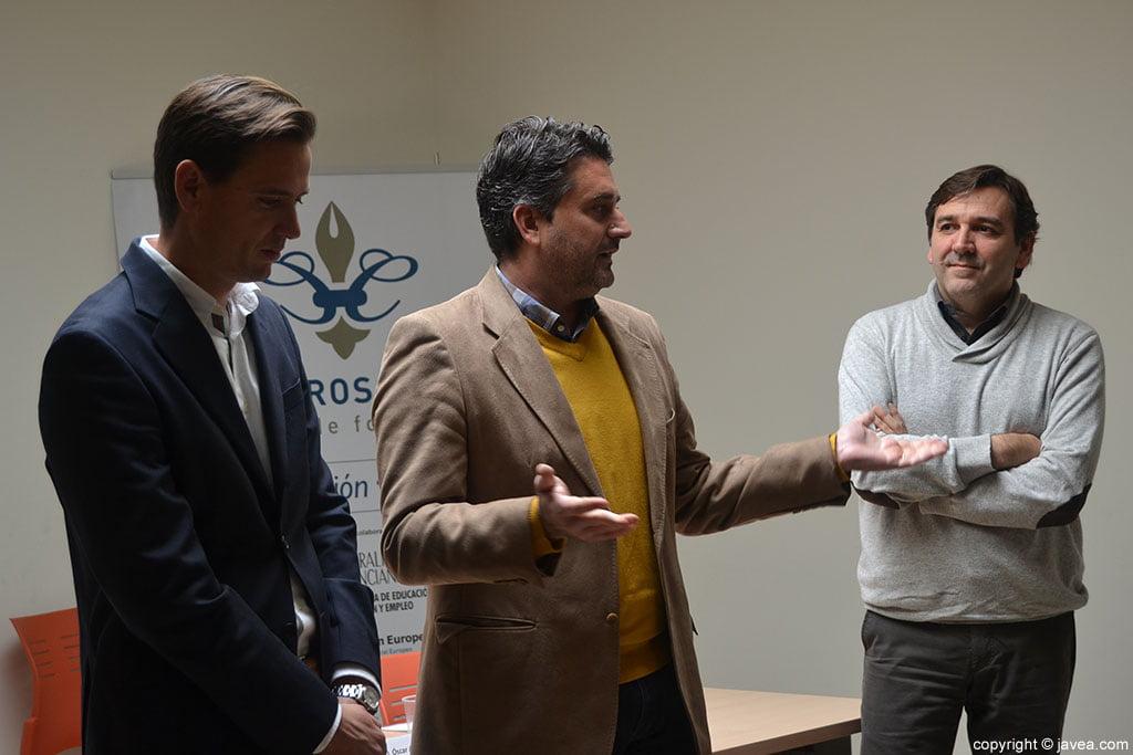 Óscar Anton, Juan Luís Cardona y Antonio Miragall