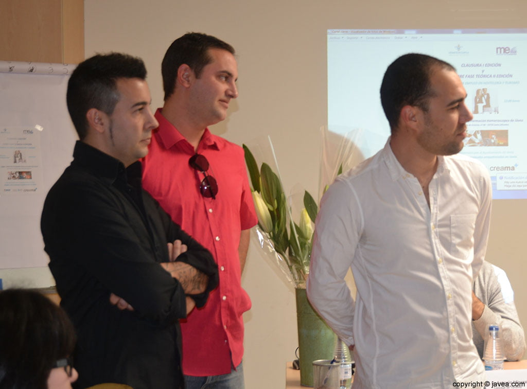 Algunos de los alumnos que dieron sus testimonios sobre el curso de fomento de empleo en hostelería y turismo