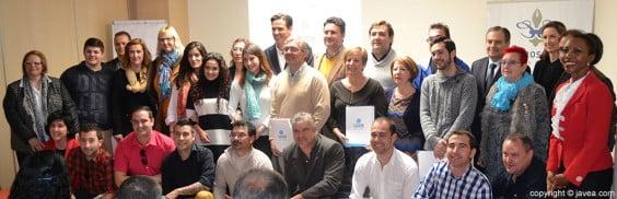 Alumnos y personal docente de la primera edición del curso de fomento de empleo y hostelería y turismo