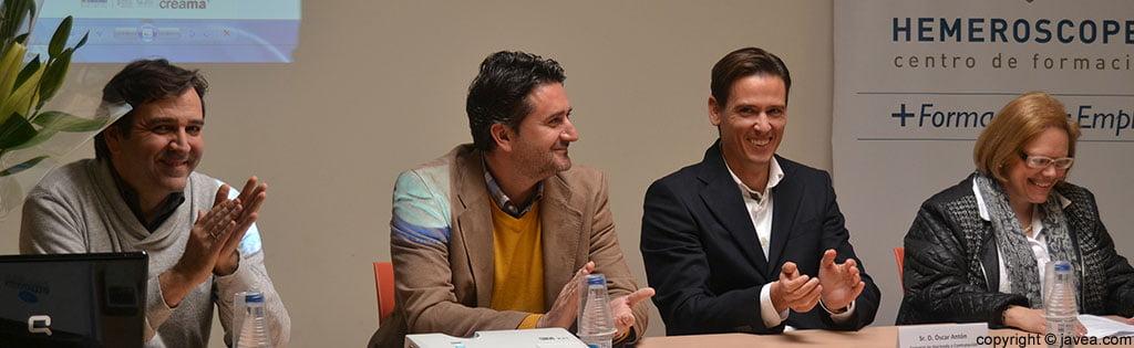 Antonio Miragall, Juan Luís Cardona, Óscar Antón y Ana Catalá