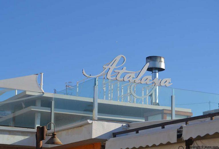 Bar Restaurante Atalaya en la Playa del Arenal de Jávea