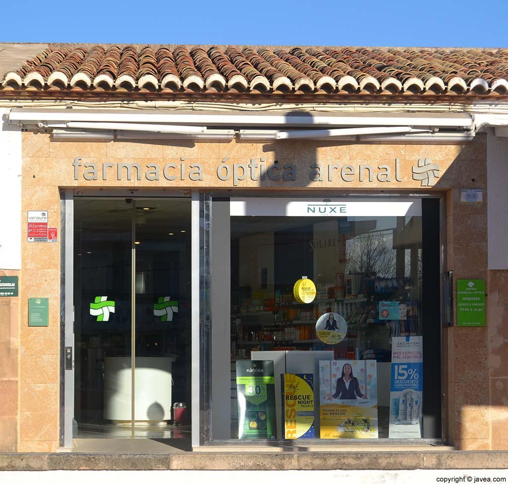 Farmacia óptica en la Playa del Arenal de Jávea