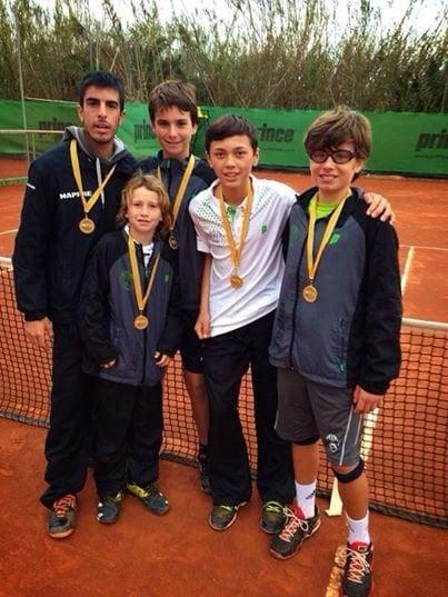 Equipo Infantil del Club de Tenis Jávea
