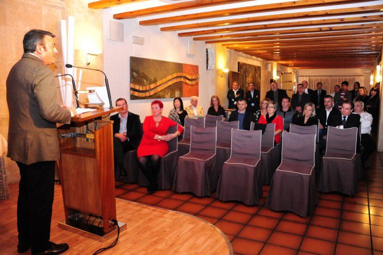 José Chulvi en su discurso en la gala anual de la ARX