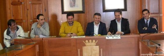 Juan Torres, Sergio Box, Juan Luís Cardona, José Chulvi, Fernando Giner y Héctor Rojo en la presentación del evento