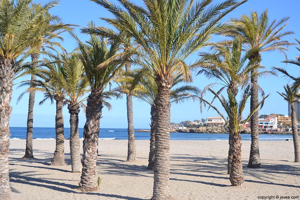 La Playa del Arenal en el municipio de Xàbia