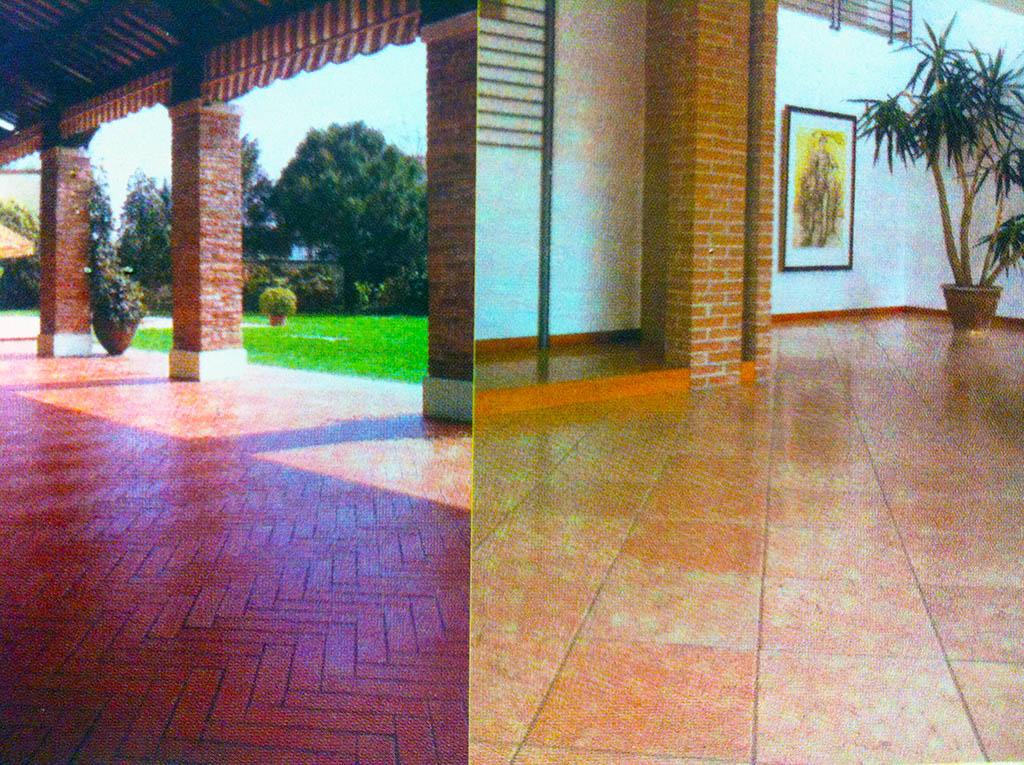 La casa fila se puede encontrar en azulejos eurogres y Azulejos para terrazas