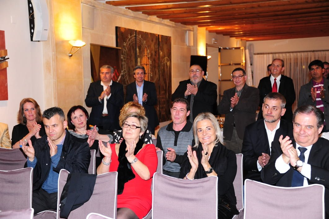 Miembros de la ARX en su gala anual celebrada en Salones Carrasco