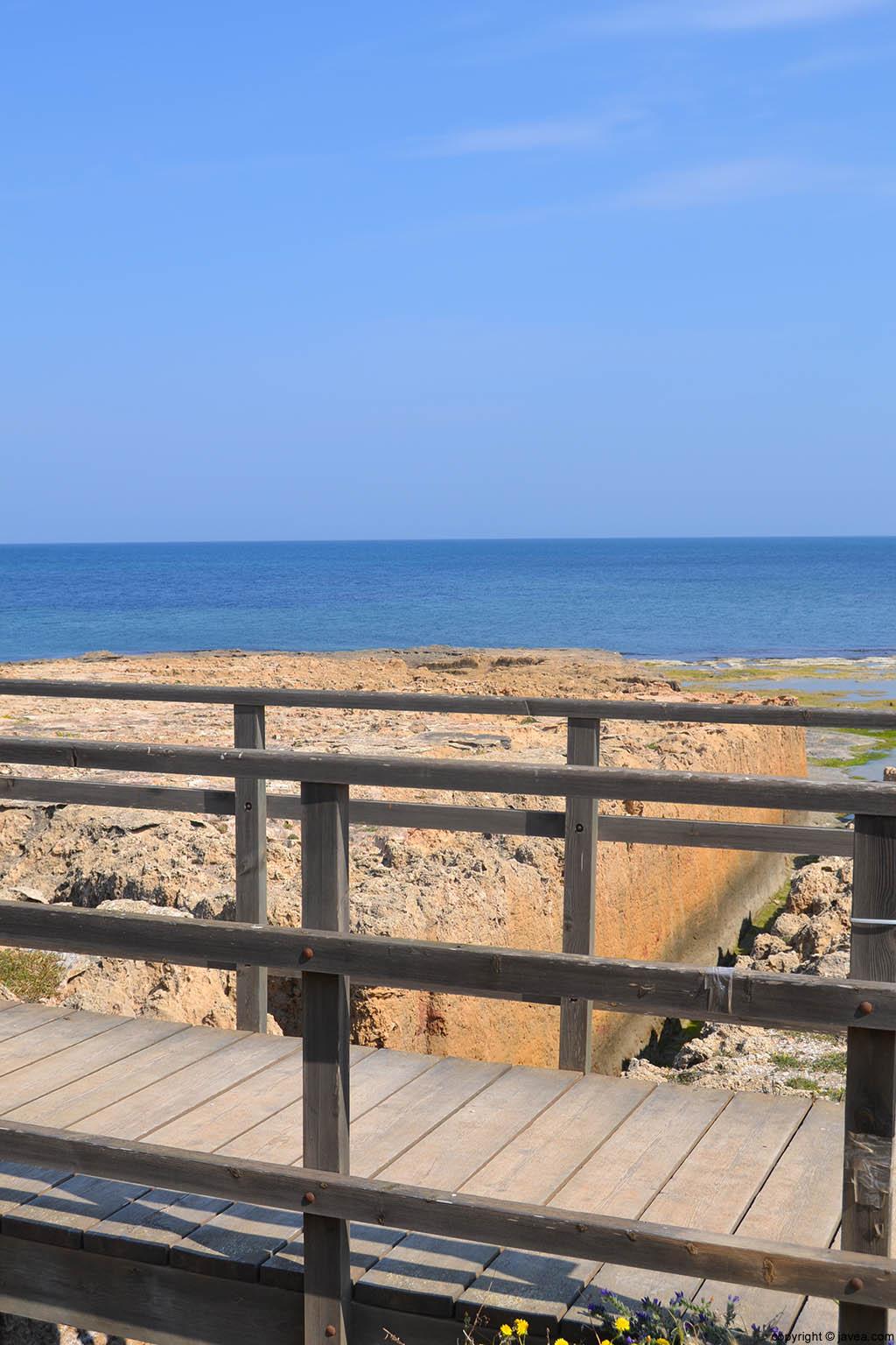 Mirador de la séquia de la nória en la playa del segón muntanyar de Xàbia