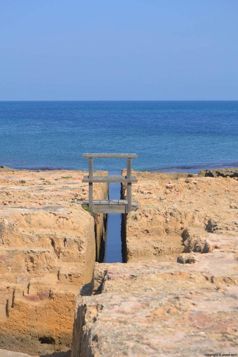 Parte del mirador de la séquia de la nória en la playa del segón muntanyar de Jávea