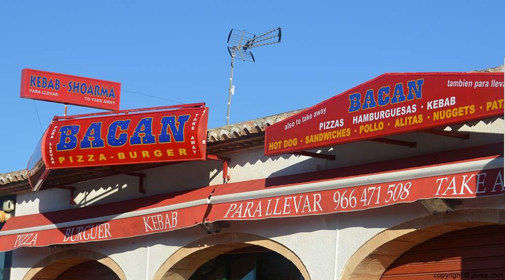 Pizzería Hamburguesería Bacan en Jávea