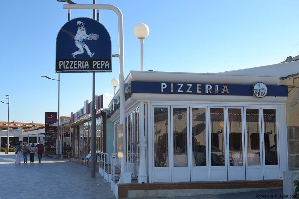Pizzería Pepa en la Playa del Arenal de Jávea