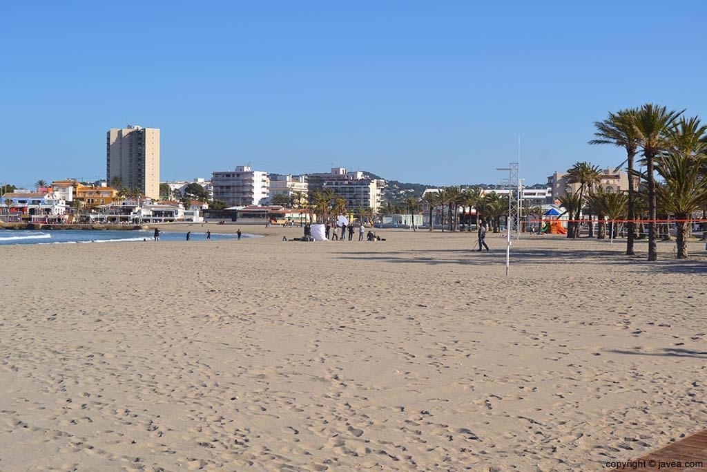 Playa del Arenal en el municipio de Jávea