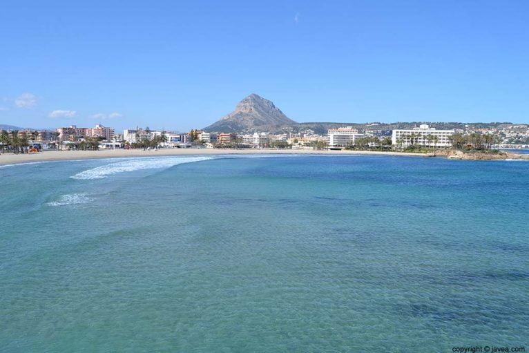 Playa del Arenal en el municipio de Xàbia
