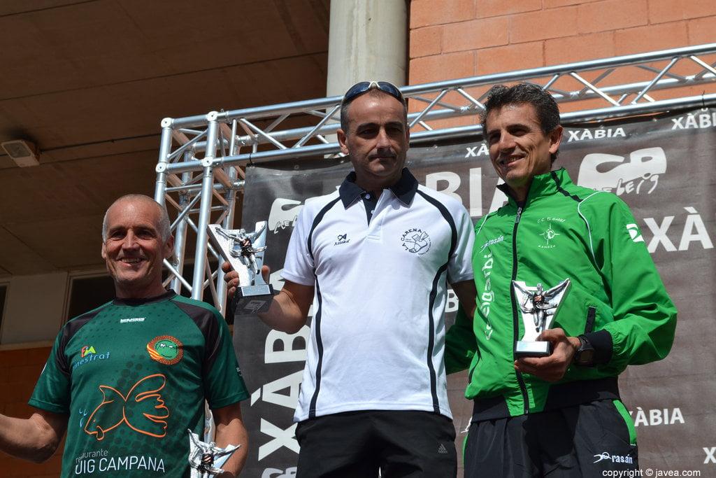 Juan Sellens, Javier García y José Sellés