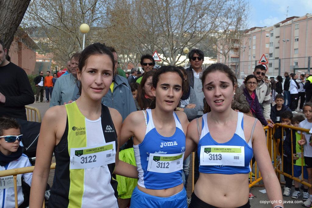 Laura Jiménez, Carmen Bolufer y Lua Fernández