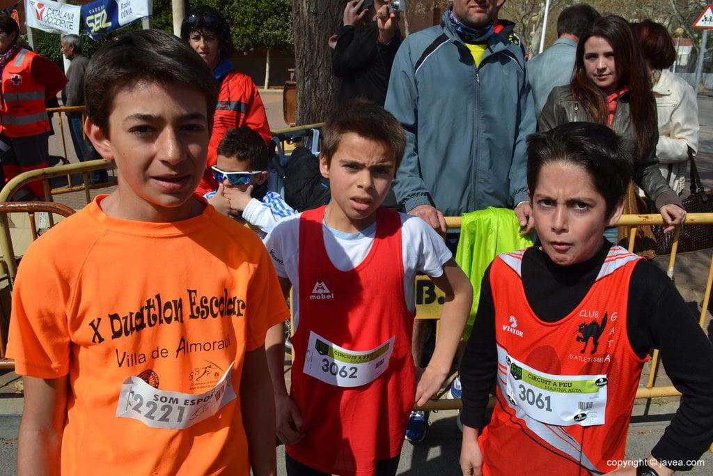 Joan Puigcerver, Marco Parra y Hugo Julía
