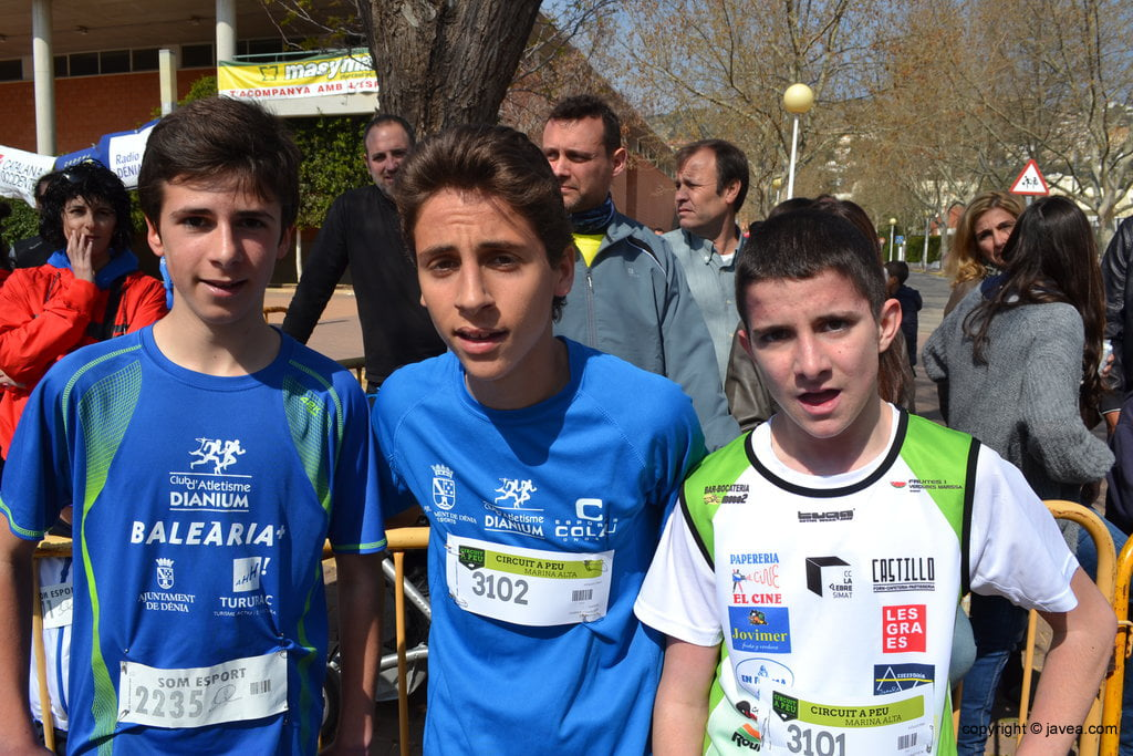 Joan Guillem, Daniel Ferrer y Antoni Perles