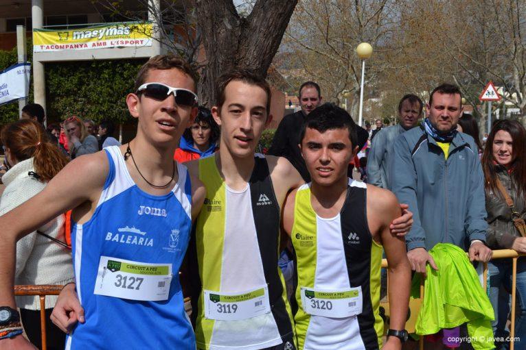 Vicent Arbona, Jordi Colomer y Vicent Monfort
