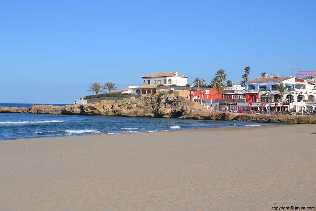 Punta de la Playa del Arenal de Jávea