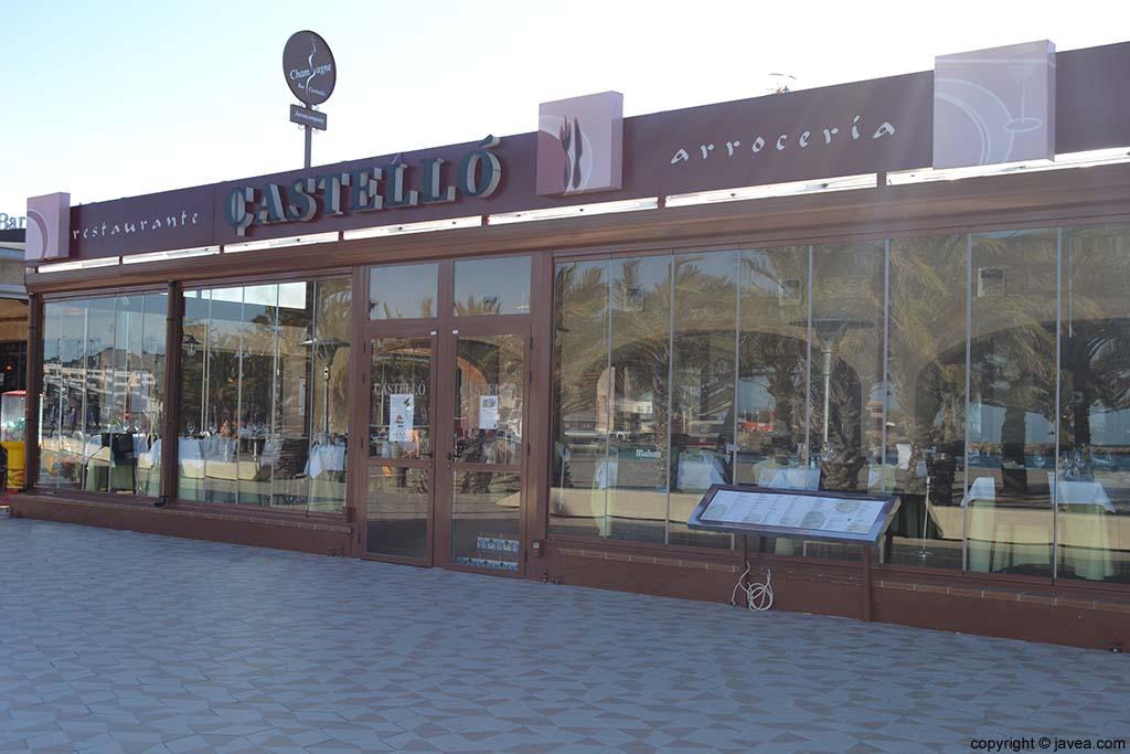 Restaurante Arrocería Castelló en la Playa del Arenal de Jávea