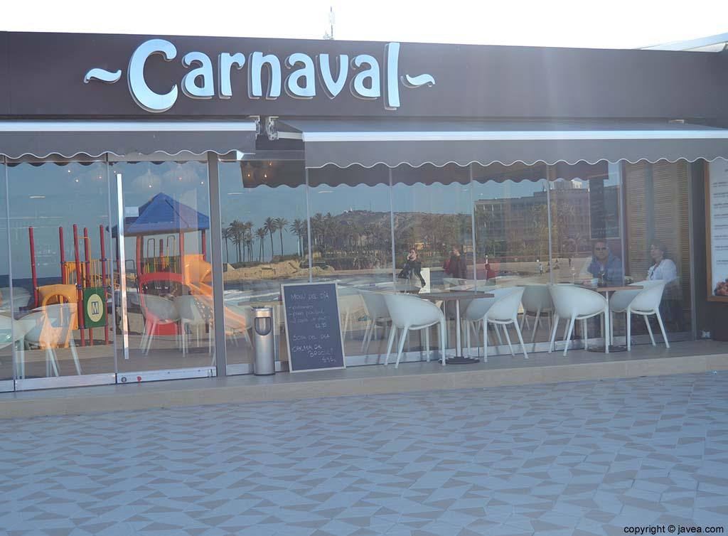 Restaurante Carnaval en la Playa del Arenal de Jávea