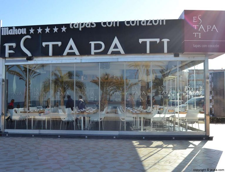 Restaurante Esta Pa Ti en la Playa del Arenal de Jávea