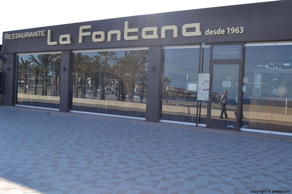 Restaurante La Fontana en la Playa del Arenal de Jávea