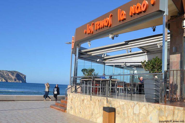 Restaurante Los Remos-La Nao en la Playa del Arenal de Jávea